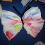 Bild vom gebastelten Schmetterling